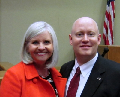 Judge Sherry Jackson-Hawkins and James Syler