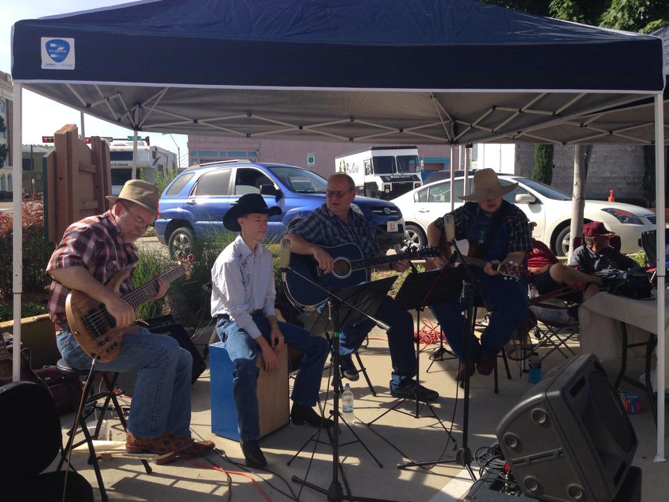 Band playing at the Farmers' Market