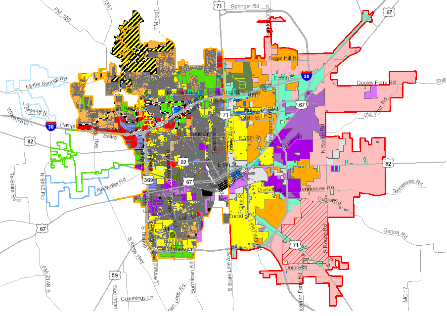 Map Of Texarkana Development Map Viewer | Texarkana, TX   Official Website